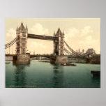 Puente II, Londres, Inglaterra de la torre Posters