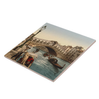 Puente II, Venecia, Italia de Rialto Azulejo Cuadrado Grande