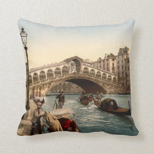Puente II, Venecia, Italia de Rialto Cojines