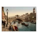 Puente II, Venecia, Italia de Rialto Tarjeta De Felicitación