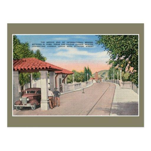 Puente internacional y aduanas El Paso 2 del vinta Tarjetas Postales