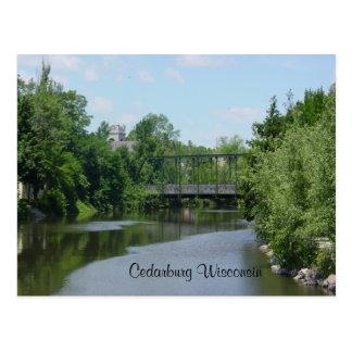 Puente interurbano de Cedar Creek Tarjeta Postal