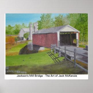 Puente IV del molino de Jacksons Posters