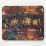 Puente japonés de Claude Monet, bella arte del Tapetes De Raton