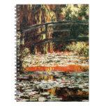 Puente japonés de Claude Monet Libros De Apuntes Con Espiral