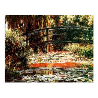 Puente japonés de Claude Monet Tarjetas Postales