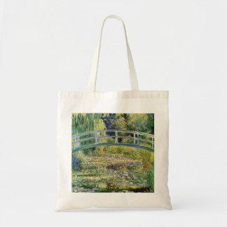 Puente japonés de Monet con la bolsa de asas de lo