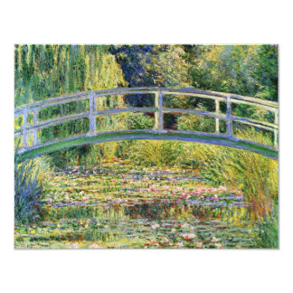 Puente japonés de Monet con la invitación de los