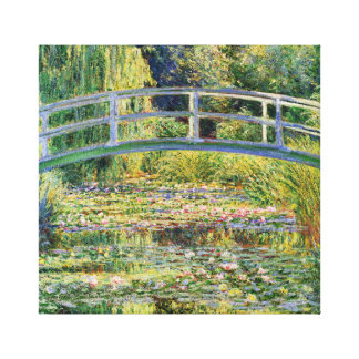 Puente japonés de Monet con los lirios de agua Lona Envuelta Para Galerías