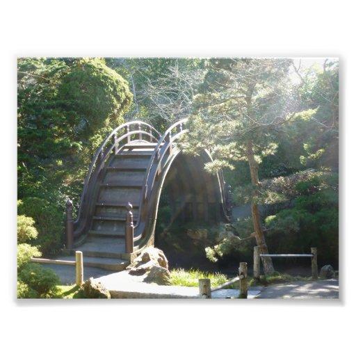 Puente japonés del jardín de té cojinete