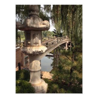 Puente japonés en la entrada al Sansho-En Fotografia