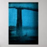 Puente japonés en la noche no.2 poster