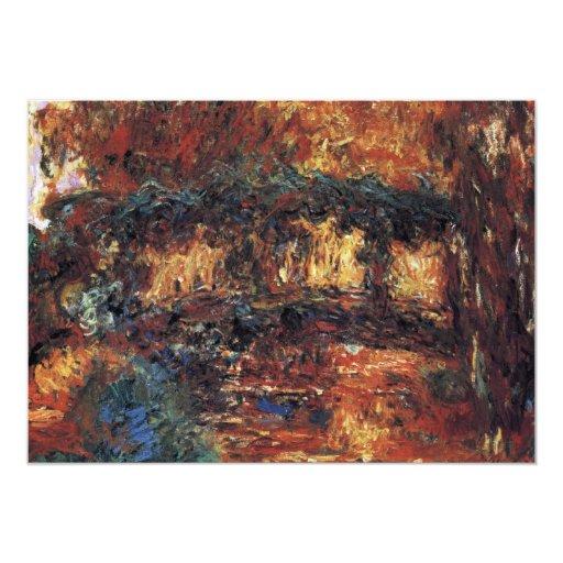 Puente japonés, Monet, arte del impresionismo del Invitación 12,7 X 17,8 Cm