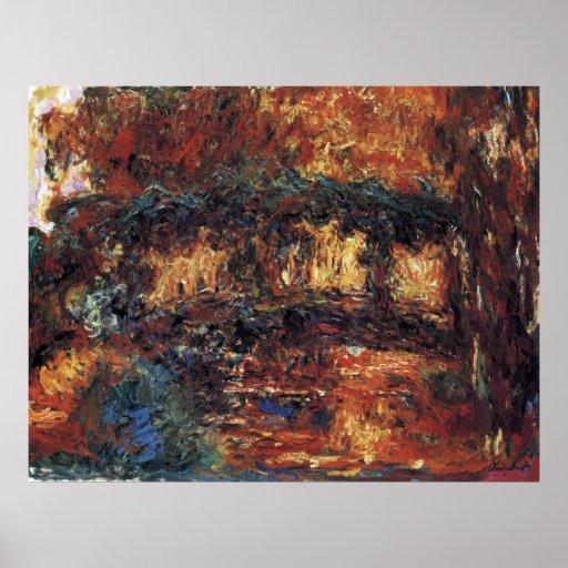 Puente japonés, Monet, arte del impresionismo del  Poster