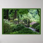 Puente - jardín del japonés de Portland Póster