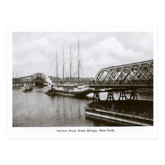 Puente levadizo del río Harlem, New York City, Postales