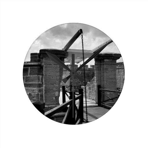 Puente levadizo St Augustine de BW Reloj De Pared