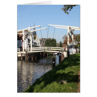 Puente levadizo tarjeta de felicitación