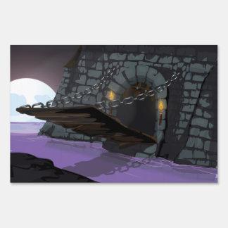 Puente levadizo y fosa del castillo señal
