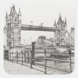 Puente Londres 2006 de la torre Pegatina Cuadrada