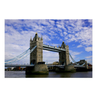 Puente Londres de la torre Poster
