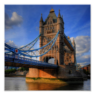 Puente Londres de la torre Póster