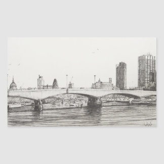 Puente Londres de Waterloo. 31/10/2006 Pegatina Rectangular