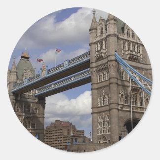 Puente Londres, Inglaterra de la torre Pegatina Redonda