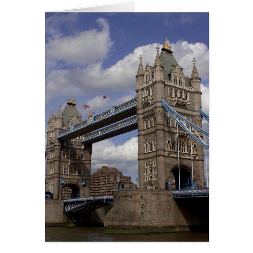 Puente Londres, Inglaterra de la torre Tarjeta De Felicitación