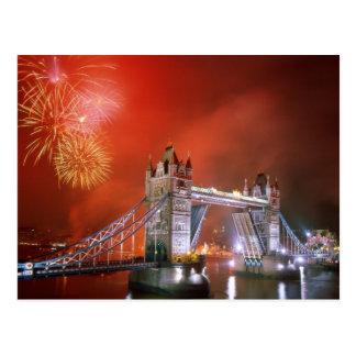 Puente Londres Inglaterra de la torre Tarjeta Postal