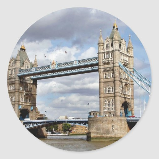 Puente Londres Inglaterra Pegatina Redonda