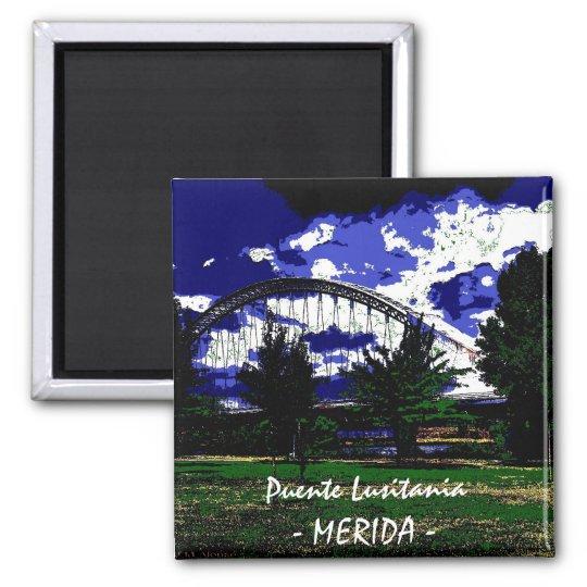 Puente Lusitania- MERIDA - Imán Cuadrado