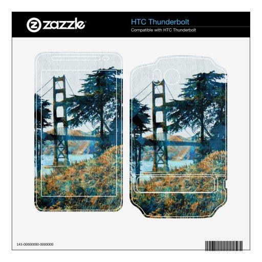 puente mágico de la puesta del sol HTC thunderbolt skin