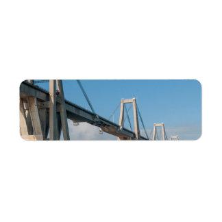 Puente Maracaibo Venezuela de general Rafael Urdan Etiqueta De Remite
