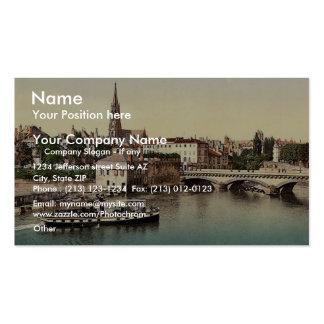 Puente medio, vint de Metz, la Alsacia-Lorena, Ale Tarjeta De Visita