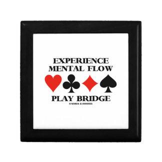 Puente mental del juego del flujo de la experienci caja de recuerdo