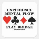 Puente mental del juego del flujo de la colcomanias cuadradases