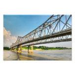 Puente Natchez del río Misisipi Arte Con Fotos