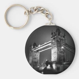 Puente negro y blanco de BW de Londres de la torre Llavero Personalizado