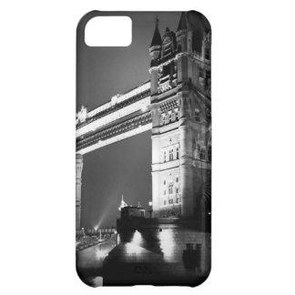 Puente negro y blanco de la torre de Londres Funda iPhone 5C
