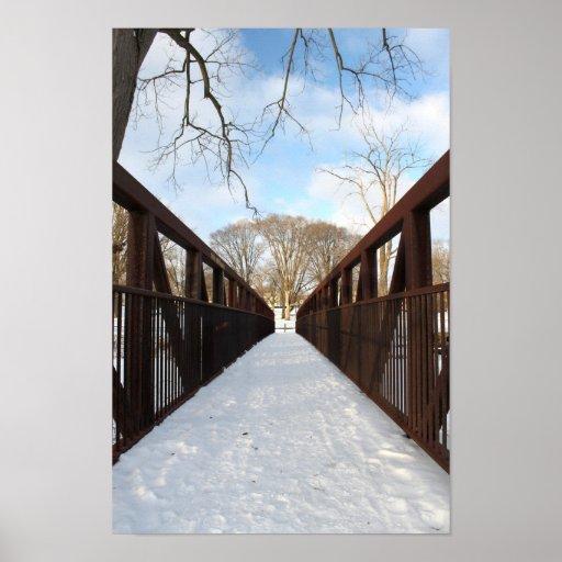 Puente nevado impresiones