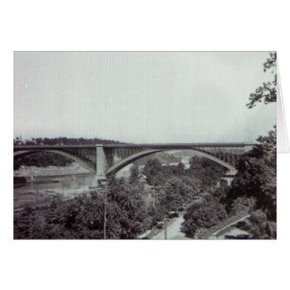 Puente New York City de Washington Tarjeta De Felicitación
