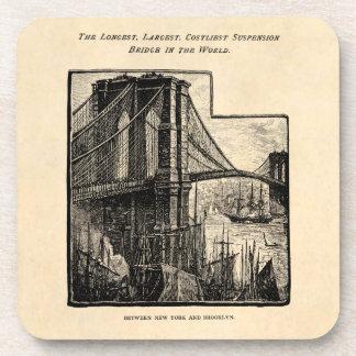 Puente New York City de Williamsburg Brooklyn del  Posavasos De Bebidas