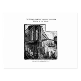 Puente New York City de Williamsburg Brooklyn del  Tarjetas Postales