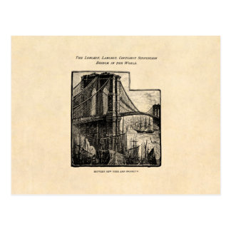 Puente New York City de Williamsburg Brooklyn del  Postal