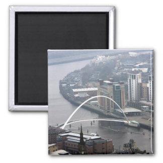Puente Newcastle del milenio sobre Tyne Imanes