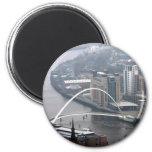 Puente Newcastle del milenio sobre Tyne Iman