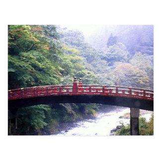 Puente Nikko Japón de Shinkyo Postales