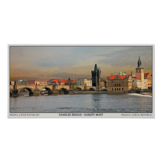 Puente Pano de Praga - de Charles Póster