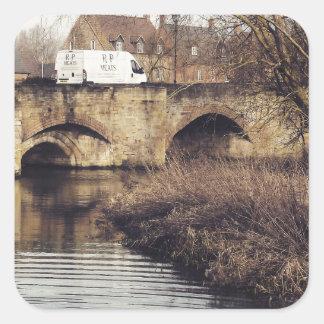 puente calcomania cuadradas
